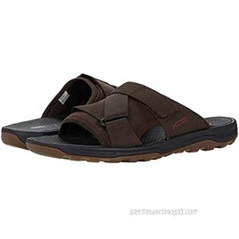 Rockport Men's Trail Technique Velcro Slide Sandal Brown 7