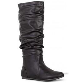 RF ROOM OF FASHION Women's Slouchy Knee High Hidden Pocket Boots Medium Calf