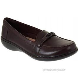 Clarks Women's Ashland Ballot Loafer Burgundy Leather