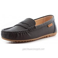 Parfeying Women's Leather Slip on Moccasin Memory Foam Padded Arch Support Driving Loafer Flat Shoes