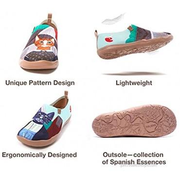 UIN Women's Walking Travel Shoes Slip On Casual Loafers Lightweight Comfort Fashion Sneaker Modern Art