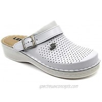 LEON V202 Leather Slip-on Womens Ladies Mule Clogs Slippers Shoes