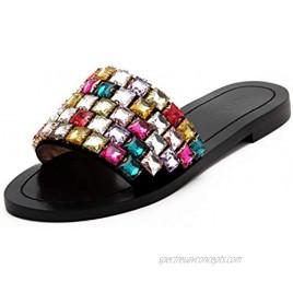 jingyibest Women's Dress Shoes Summer Flat Flip Flop Metal Sandals Open Toes