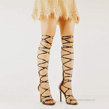 Richealnana Women's Sexy Strappy Gladiator High Heels