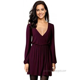 Leadingstar Women's V-Neck A-Line Party Casual Dress
