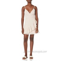 Speechless Women's Faux Wrap Fit and Flare Sleeveless Dress