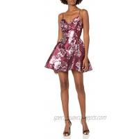 Speechless Women's Sleeveless Fit and Flare Taffeta Party Dress