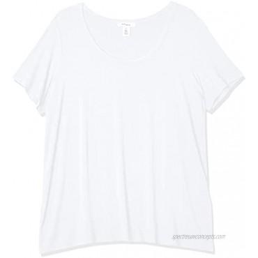 Brand Daily Ritual Women's Plus Size Jersey Short-Sleeve Scoop Neck Shirt