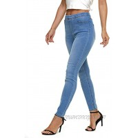 LICTZNEE Jeggings for Women High Waist Stretchy Jeans Slim Fit Leg Pull on Jean with Pockets Soft Breathable Cotton Blend