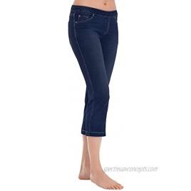PajamaJeans Capri Pants for Women Stretch Denim Capris for Women