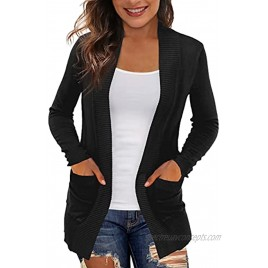 REDHOTYPE Women's Cardigans with Pockets Casual Lightweight Open Front Cardigan Sweaters for Women S-2XL