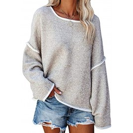 SALENT Womens Casual Oversized Sweaters Loose Soft Chunky Knit Long Batwing Sleeve Pullover Sweater Tunic Outfits Tops
