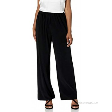 Alex Evenings Women's Straight Leg Dress Pant Petite Regular Plus Sizes Black M