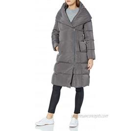 Cole Haan Women's Taffeta Down Double Breasted Zip Front Coat