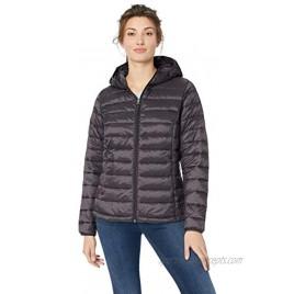 Essentials Women's Lightweight Long-Sleeve Full-Zip Water-Resistant Packable Hooded Puffer Jacket