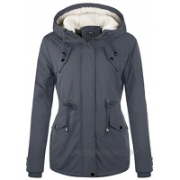 NUTEXROL Womens Winter Parka Jacket Thicken Warm Coats with Hood