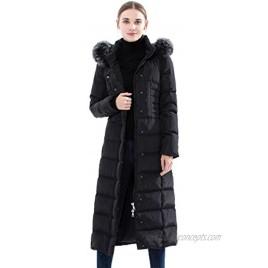 Obosoyo Women's Hooded Thickened Long Down Jacket Maxi Down Parka Puffer Coat