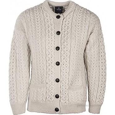 Carraig Donn Irish Fisherman Sweater Ladies 100% Merino Wool White