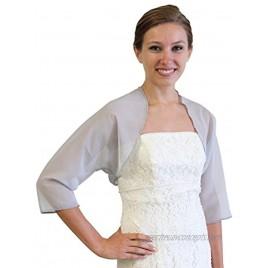 Tion Bridal Women's Chiffon Bolero Gray