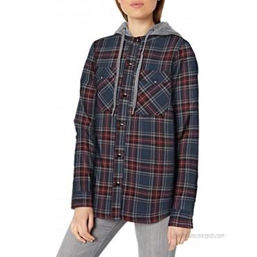 Volcom Women's Hooded Yarn Dye Flannel Snow Jacket