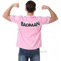 Halloween Dragon Ball Z Men's Shirt Badman Shirt Vegeta Pink Shirt Daily Wear Summer Basic Collar Short-Sleeved Woven Shirts