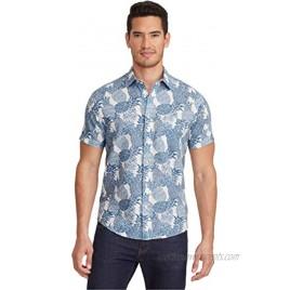 UNTUCKit Yoti Untucked Shirt for Men Short Sleeve Blue