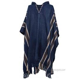 Gamboa Mens Poncho Comfortable Clothes for Men House Coat Pancho Alpaca Hooded Poncho