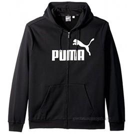 PUMA Men's Essential Full Zip Hoodie Fleece Big Logo Sweatshirt