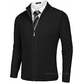 COOFANDY Men's Casual Cardigan Sweaters Slim Fit Knitted Full Zip Sweater with Pockects