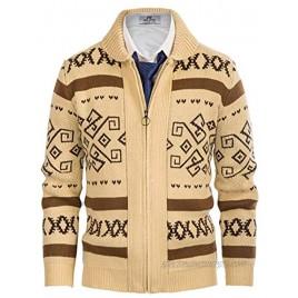 PJ PAUL JONES Men's Casual Curling Sweater Cardigans Button Down Knitted Sweater