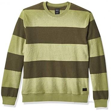 RVCA Men's Mercer Stripe Crew Neck Sweater