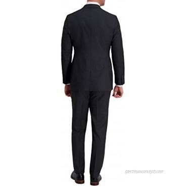Haggar Men's Signature Herringbone Tailored Fit Flat Front Premium Flex Wb Suit Separate Pant