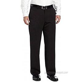 IZOD Mens Performance Stretch Straight Dress Pants Black 34W x 30L