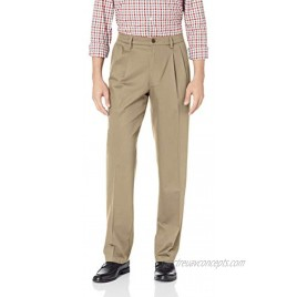 Dockers Men's Classic Fit Signature Khaki Lux Cotton Stretch Pants Pleated Regular and Big & Tall