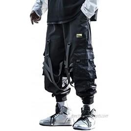 MOKEWEN Men's Hiphop Punk Jogger Sport Harem Pants