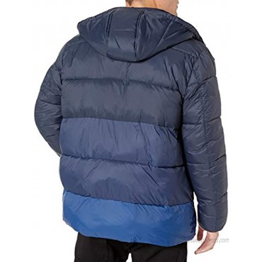 Marc New York by Andrew Marc Men's Dovers Mid Length Down Jacket with Removable Hood