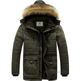 Men's Winnter coats Removable Hooded Frost-Fighter Sherpa Lined Midi Packable Parka Jackets