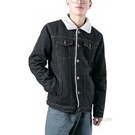 DSDZ Mens Classic Winter Fur Fleece Lined Trucker Jean Denim Jacket