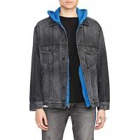 HUDSON Men's Oversized Denim Jacket W Cont