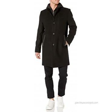 Kenneth Cole New York Men's Wool Jacket with Removable Hood