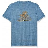 Lucky Brand Men's Short Sleeve Crew Neck Coyote Rider TeeShirt