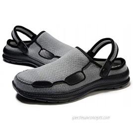 KAIDER Men's Slippers Garden Clogs Lightweight Outdoor Beach Sandals for Walking